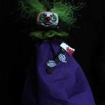 creepy clown green hair
